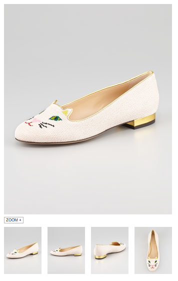 OK, I promise not to use my operating capital for Charlotte Olympia embroidered kitten slippers. MEOW.